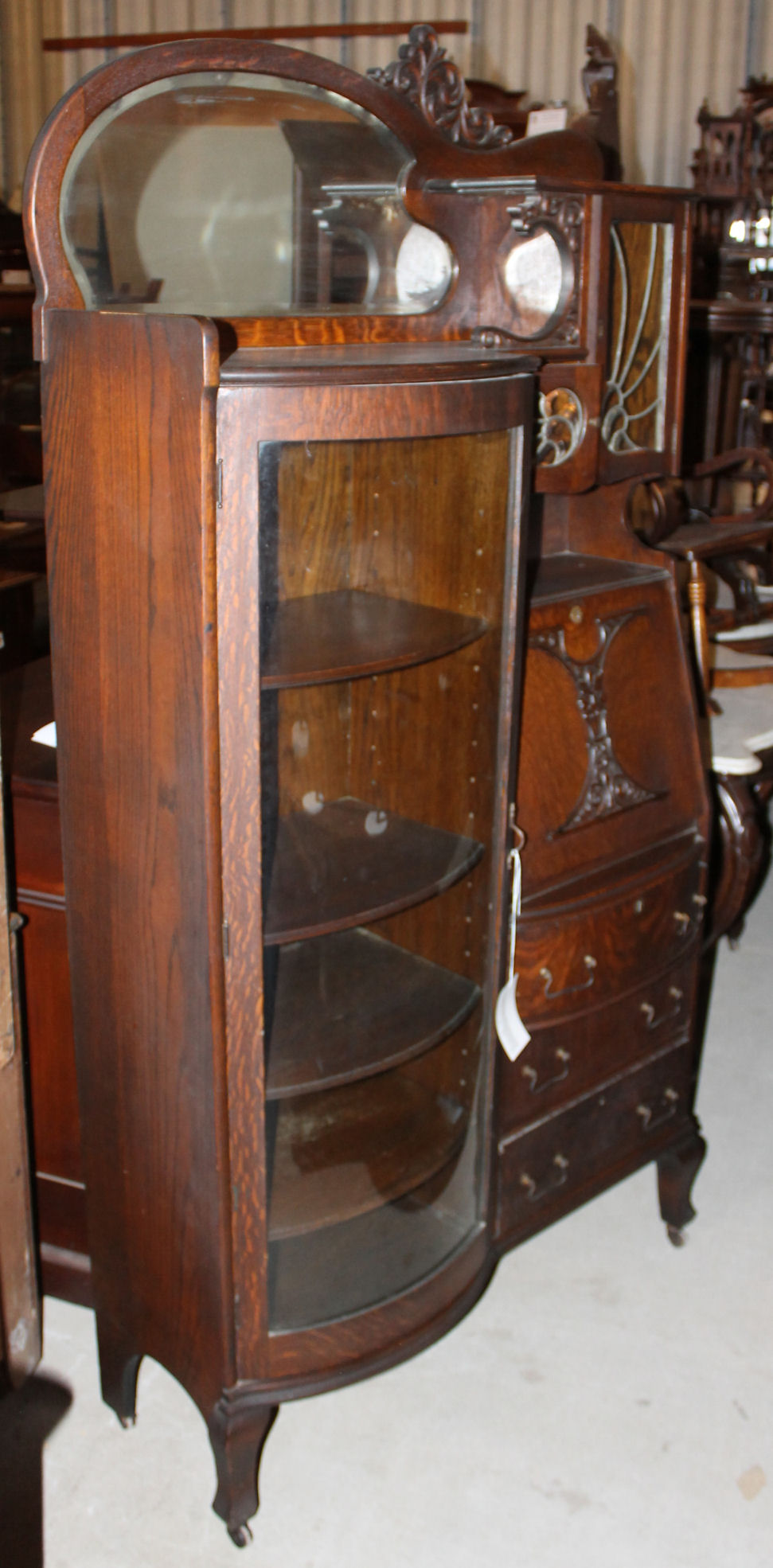 Bargain Johns Antiques  Victorian Fancy Quarter Sawn Oak