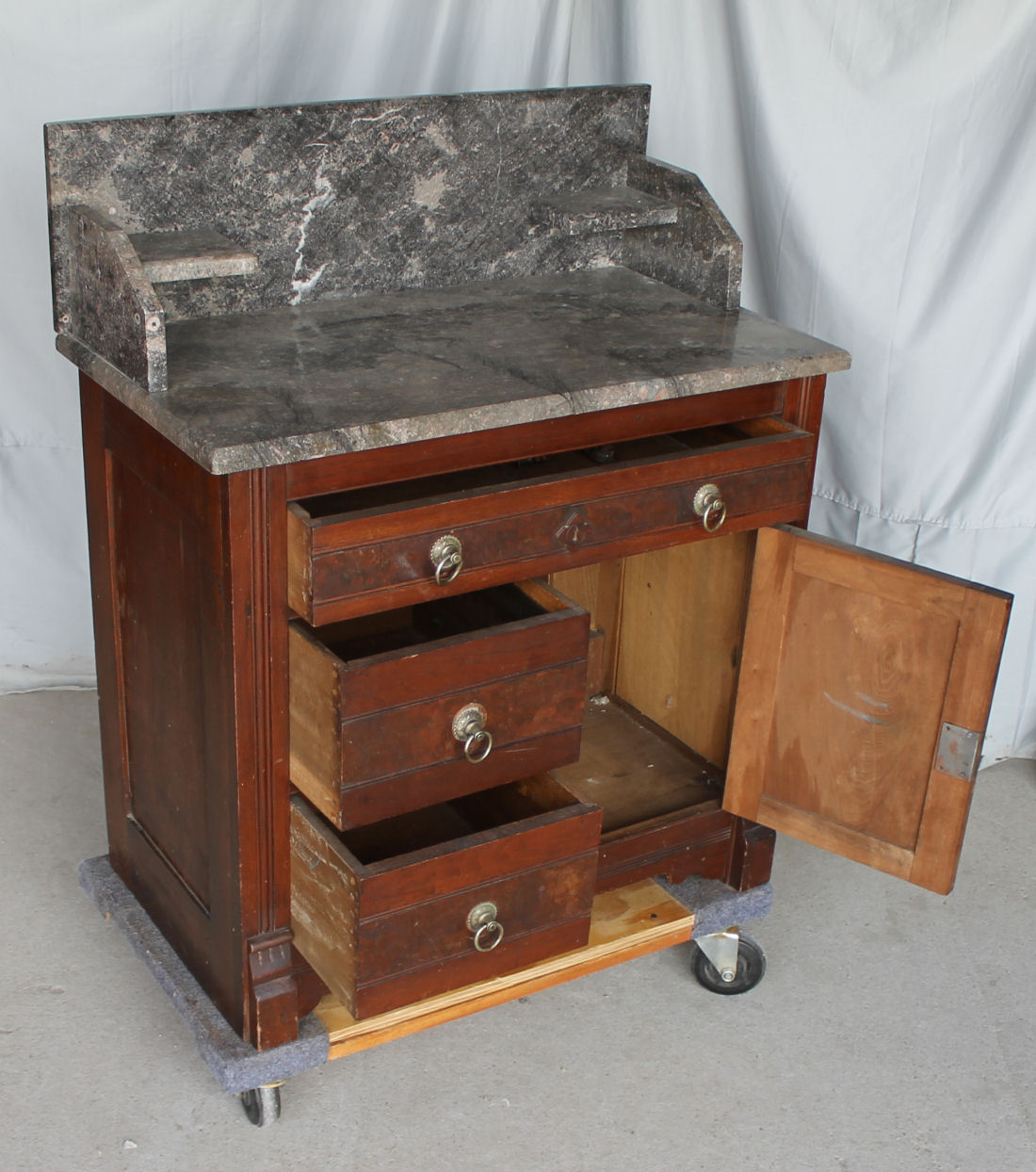 antique commode chair revolving bd bargain john's antiques | victorian walnut eastlake marble top wash stand - john ...