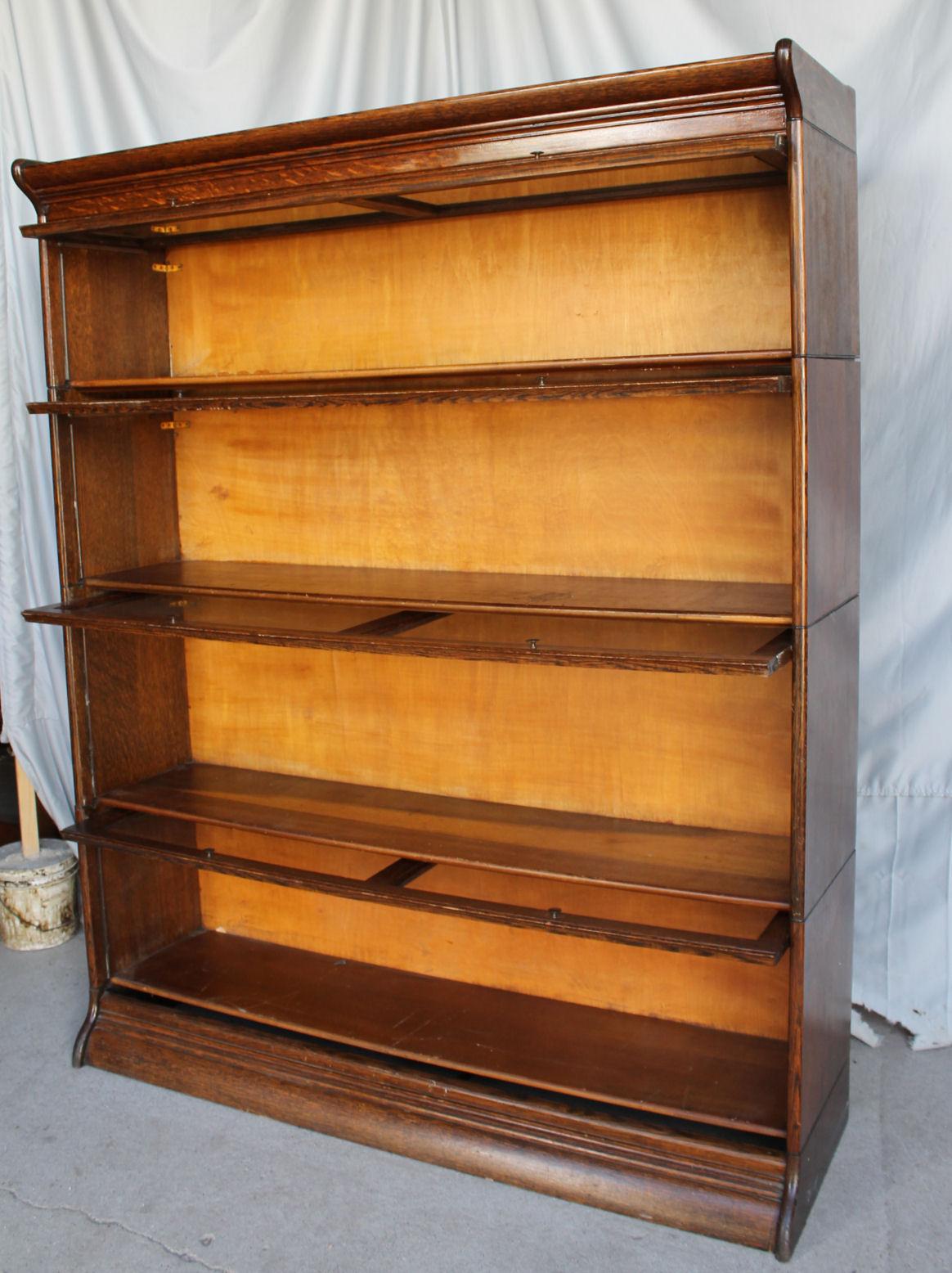 Bargain Johns Antiques  Antique Oak Bookcase  double
