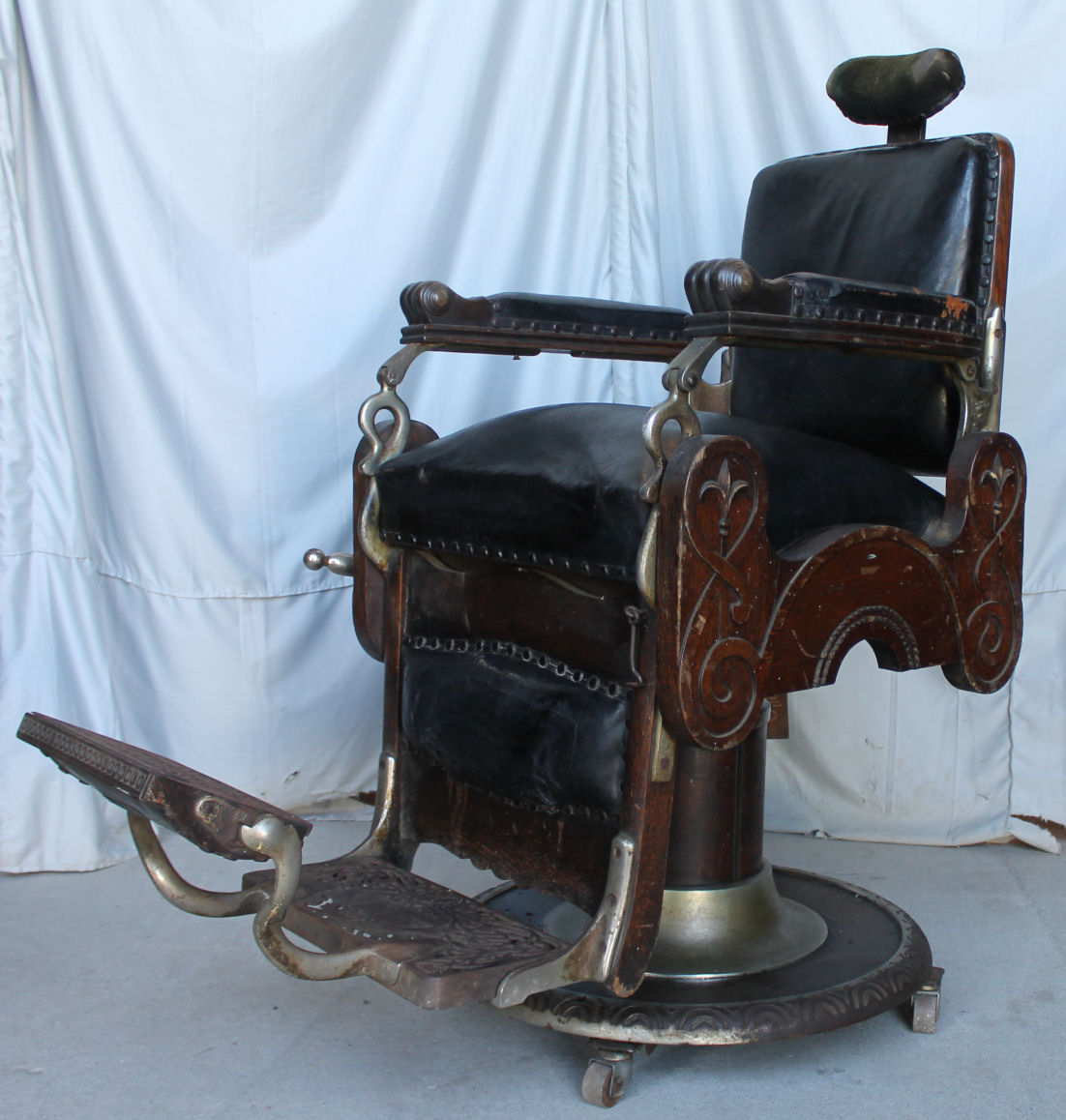1800 koken barber chair high back leather chairs bargain john 39s antiques antique oak