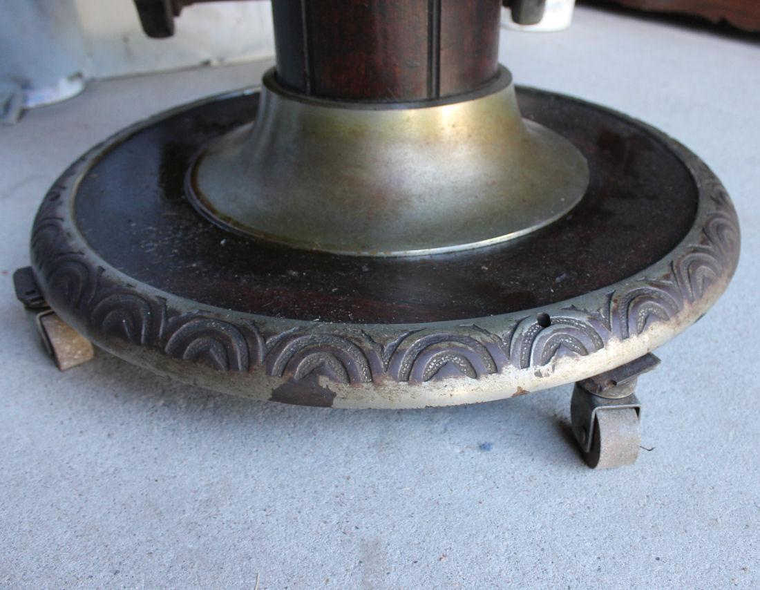 1800 koken barber chair rustic wingback bargain john 39s antiques antique oak