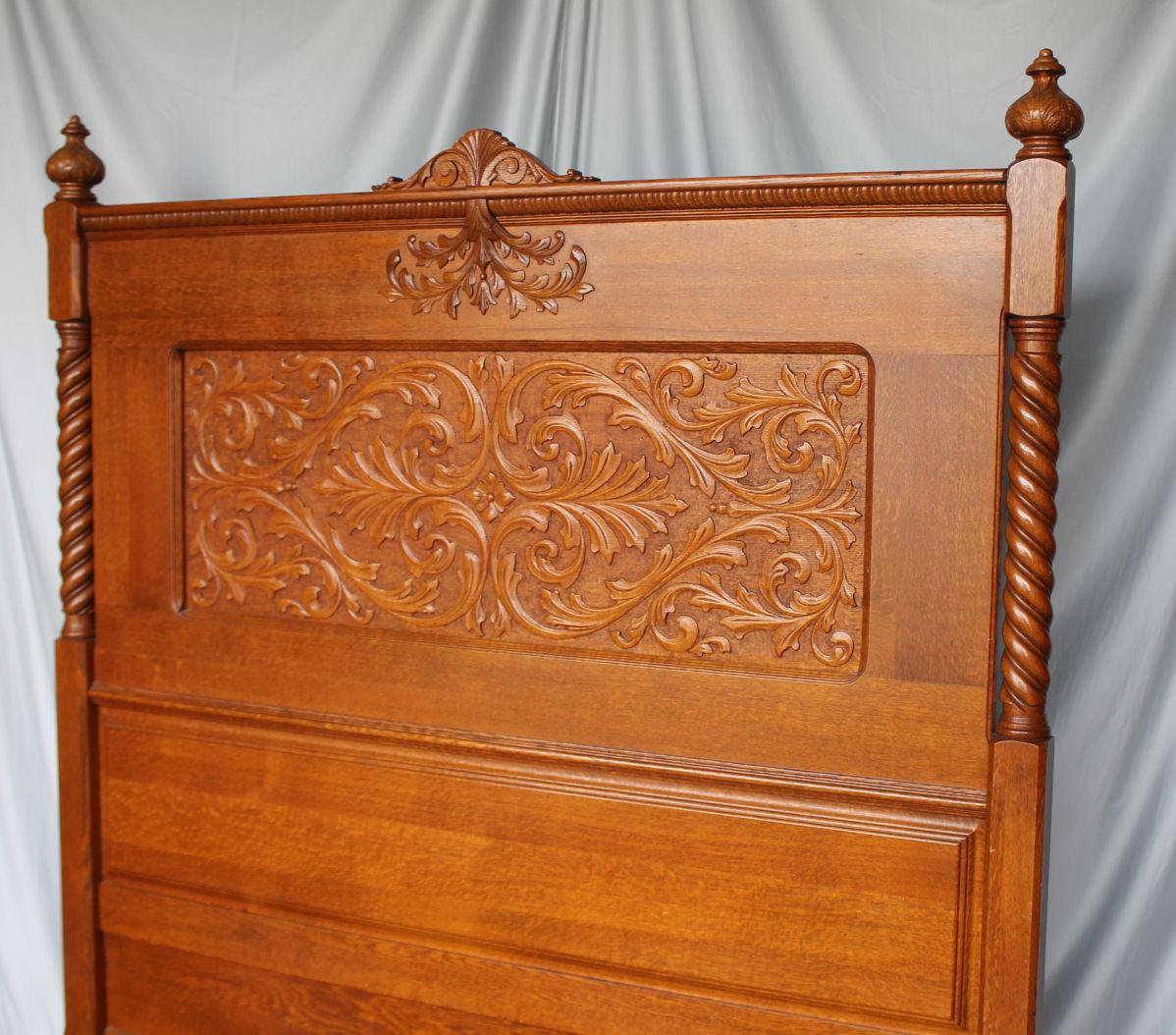 Bargain Johns Antiques  Antique Carved Oak Bedroom Set  Bargain Johns Antiques