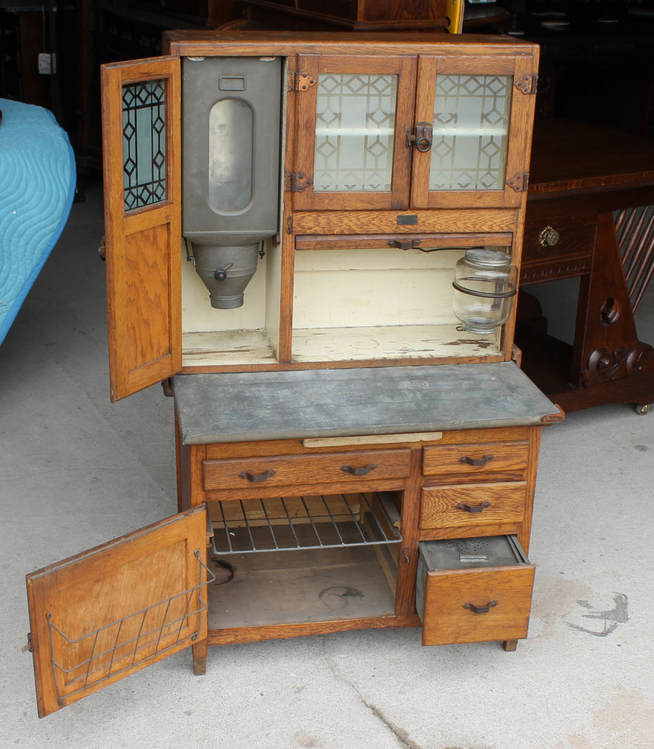 rocking chair height swivel living room bargain john's antiques   salesman sample sellers oak kitchen cabinet -