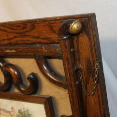 Iron Rocking Chair Nfl Football Helmet Chairs Bargain John's Antiques | Victorian Oak Stick And Ball Wall Hanging Magazine Rack - John ...