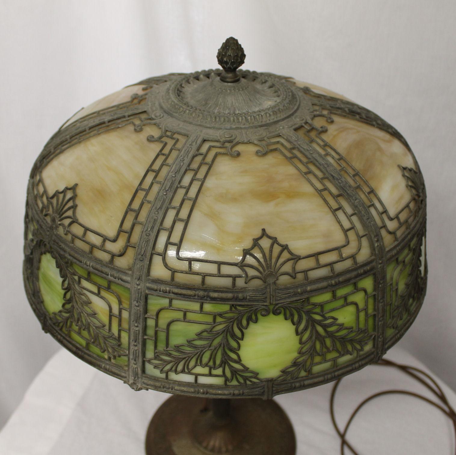 Bargain Johns Antiques  Antique Slag Glass with Metal