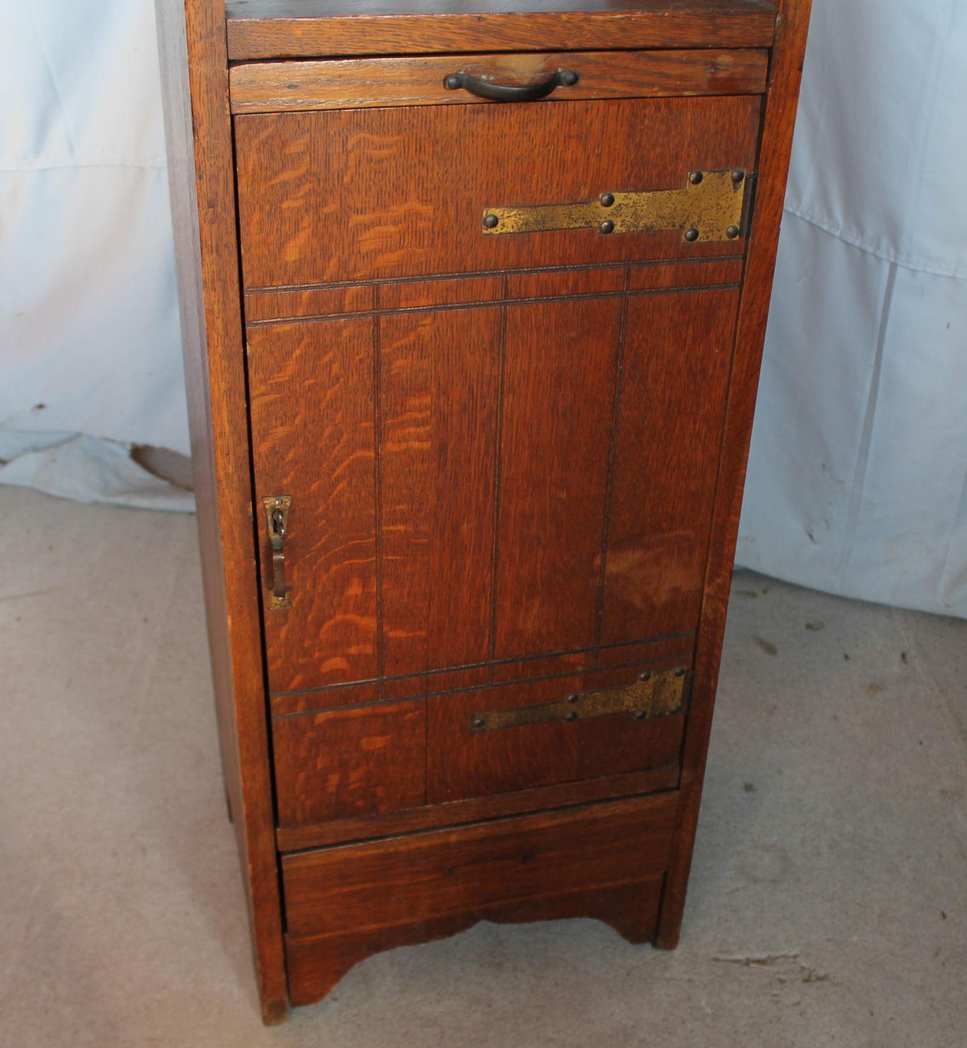 mission arm chair folding table bargain john's antiques » blog archive antique oak liquor cabinet -