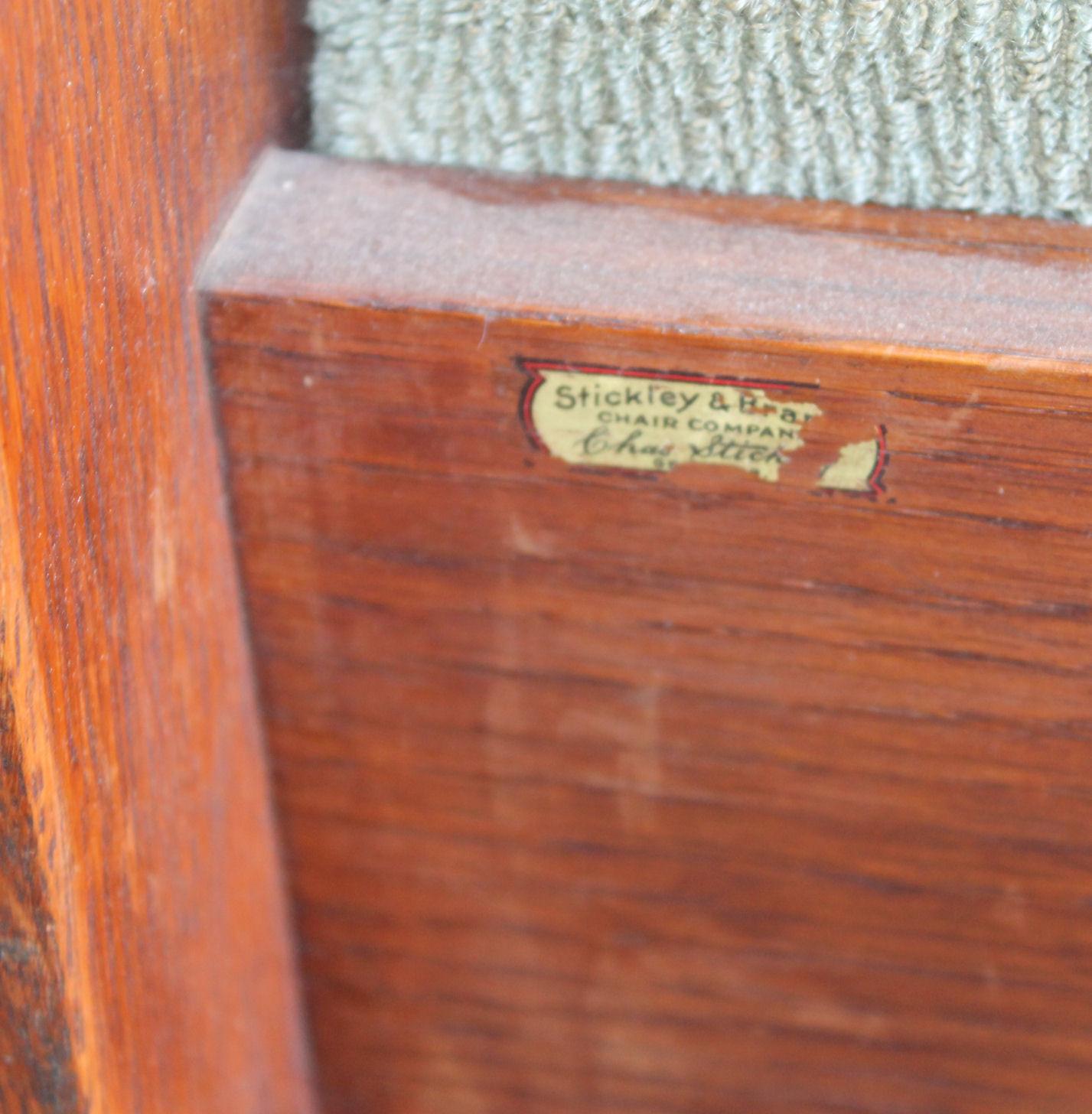 chair steel legs deals on high chairs bargain john's antiques | massive mission oak drop arm settle - charles stickley john ...
