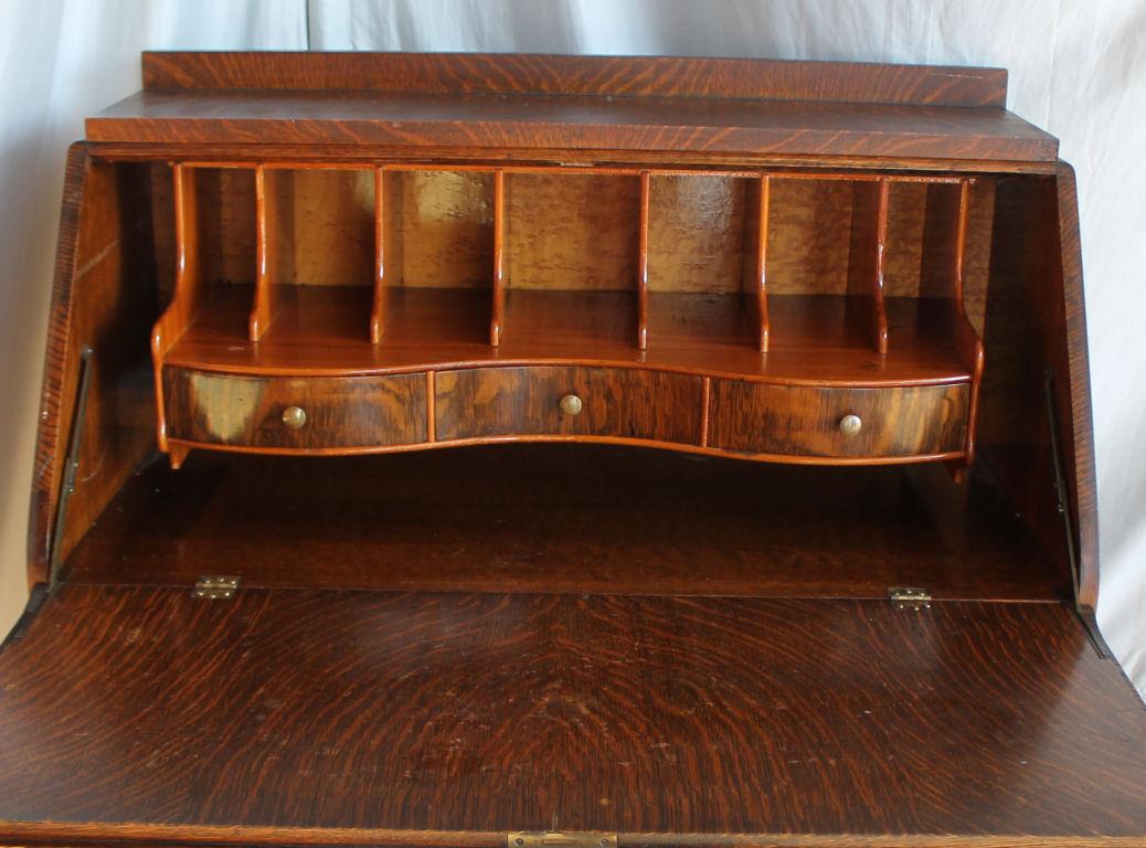 Bargain Johns Antiques  Antique Oak drop front Desk
