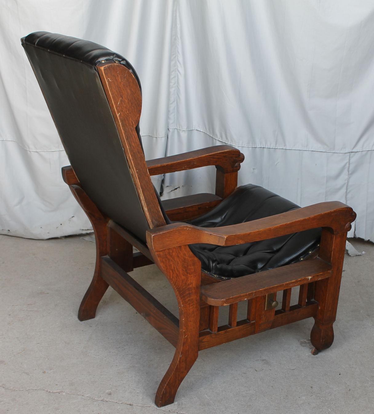 Bargain Johns Antiques  Rare Oak Morris Chair  unusual