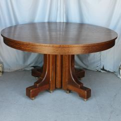 Round Oak Table And Chairs Hanging Chair From Ceiling Ikea Bargain John 39s Antiques Mission Style Dining