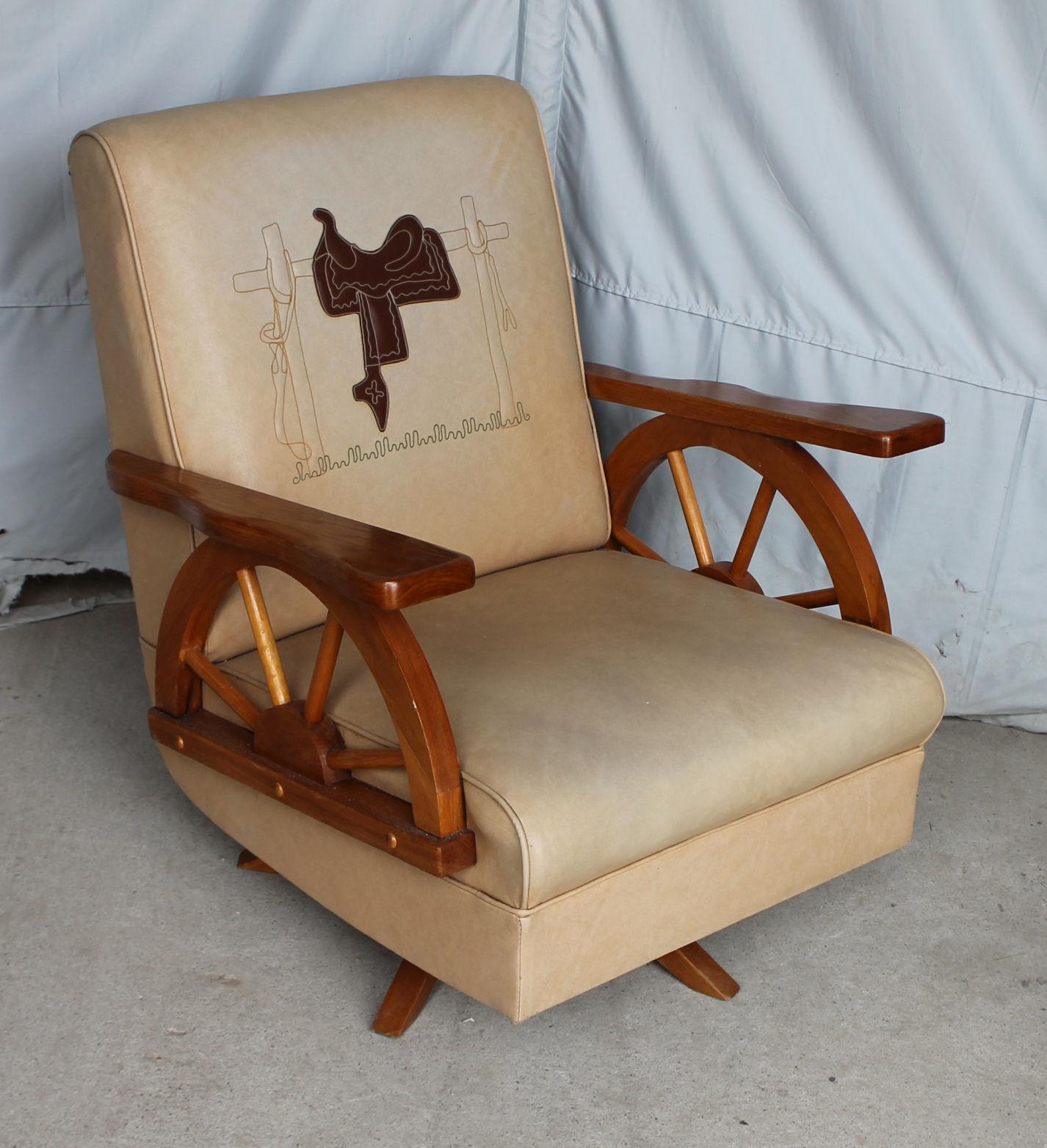 wagon wheel chair repair patio chairs bargain john 39s antiques cowboy furniture