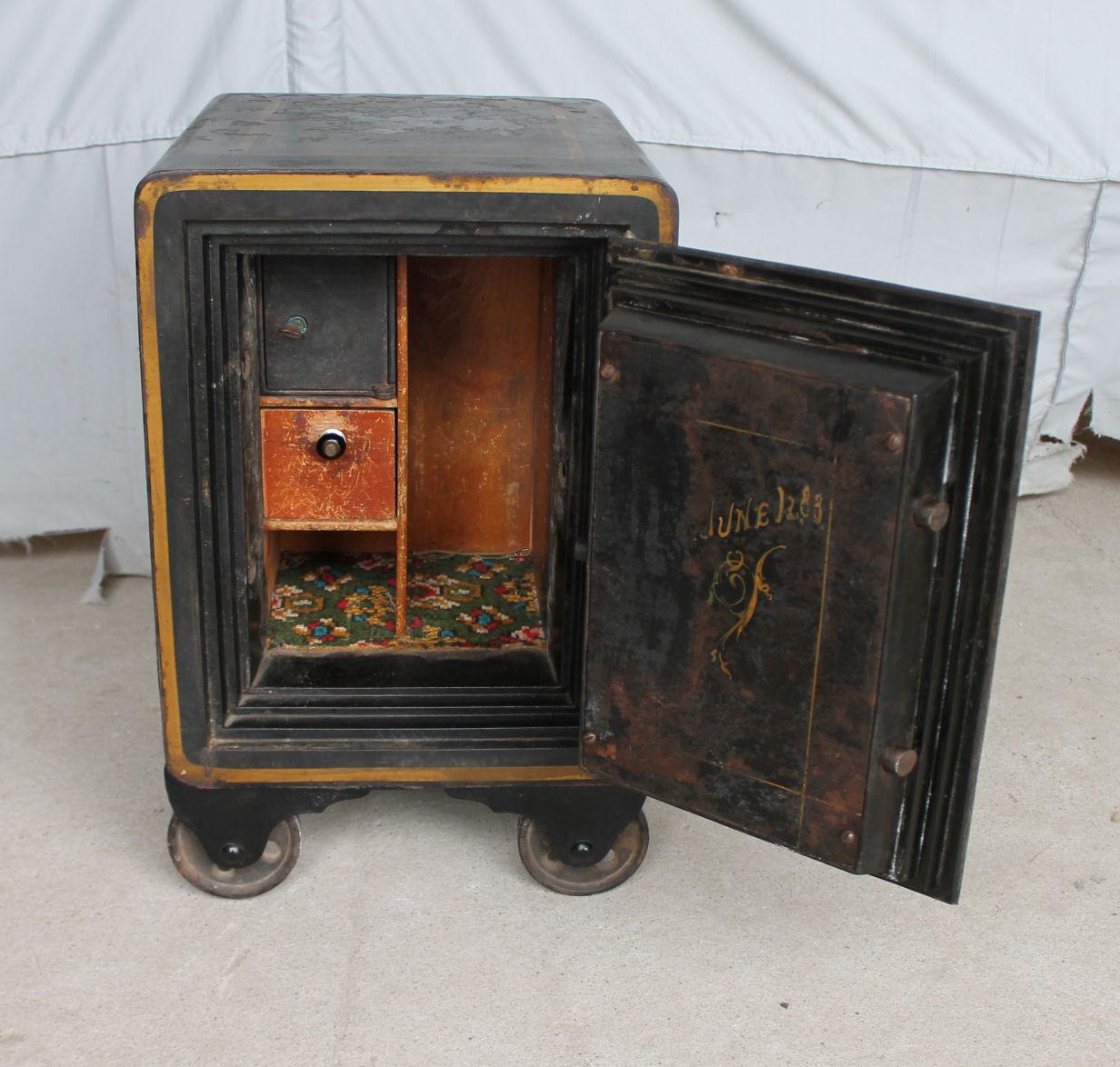 Bargain Johns Antiques  Antique Iron Safe  Alpine  Bargain Johns Antiques