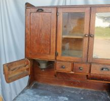 Bargain John&39;s Antiques   Antique Oak Kitchen Cabinet ...