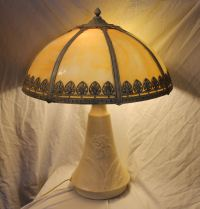Bargain John's Antiques | Antique Paneled Table Lamp with ...