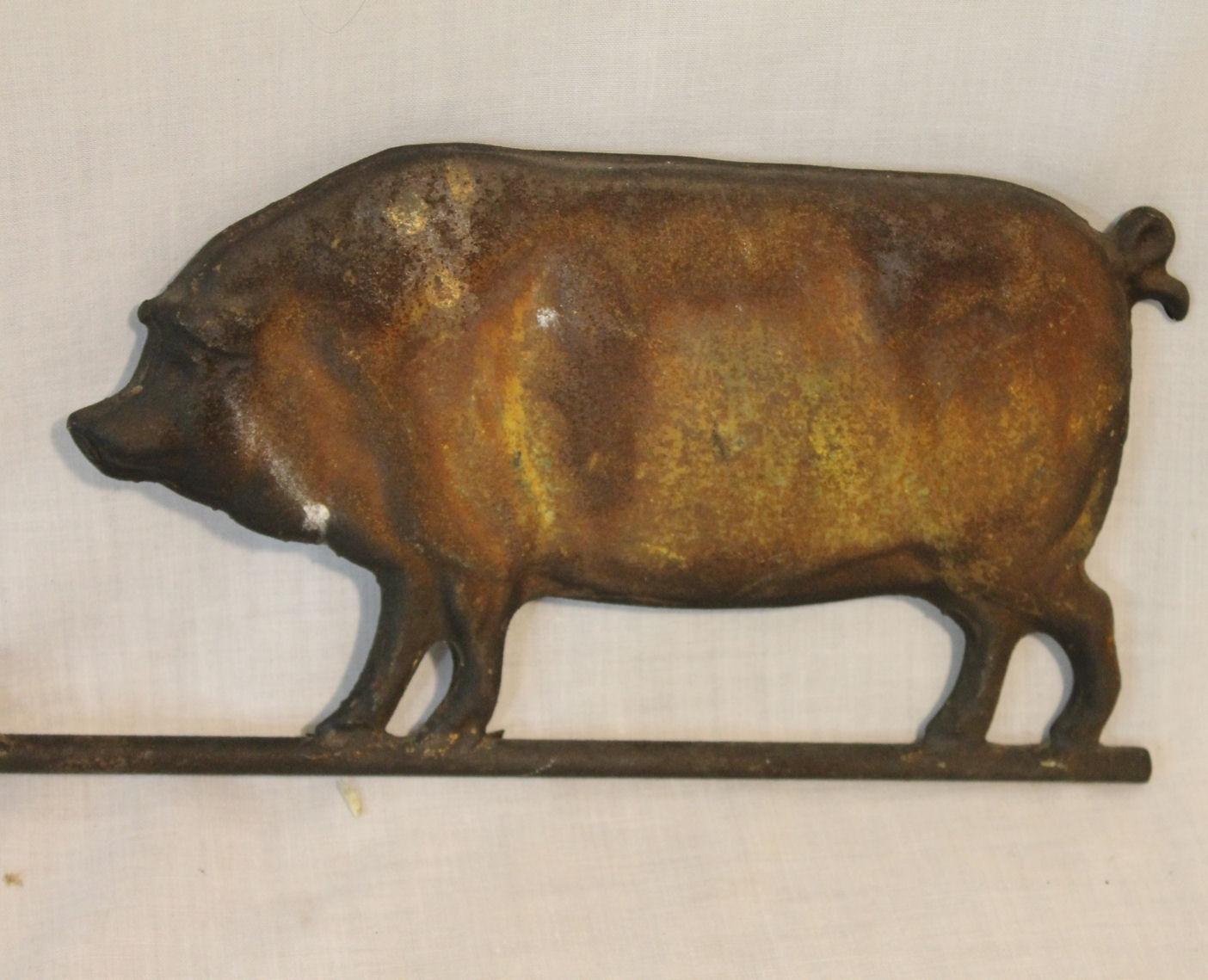 Bargain Johns Antiques  Antique Pig Weathervane