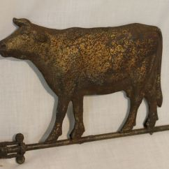 Porcelain Floor Kitchen Hood Vents Bargain John's Antiques | Antique Cow Zinc Weathervane ...