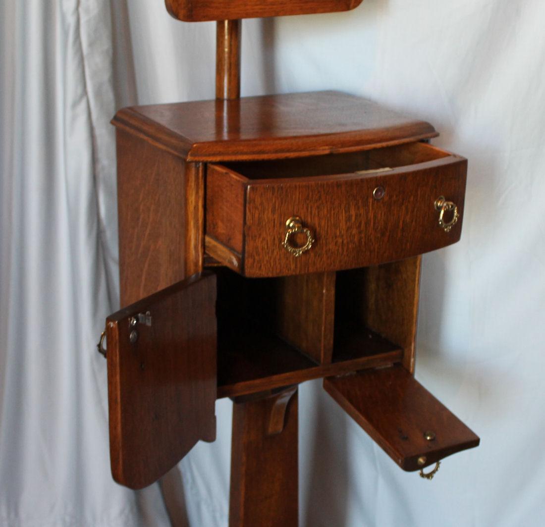 Bargain Johns Antiques  Antique Oak Shaving Stand with