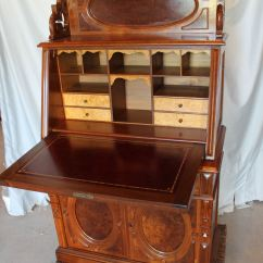 Spool Chair For Sale And Ottomon Bargain John's Antiques   Antique American Victorian Walnut Slanted Drop Front Desk - ...