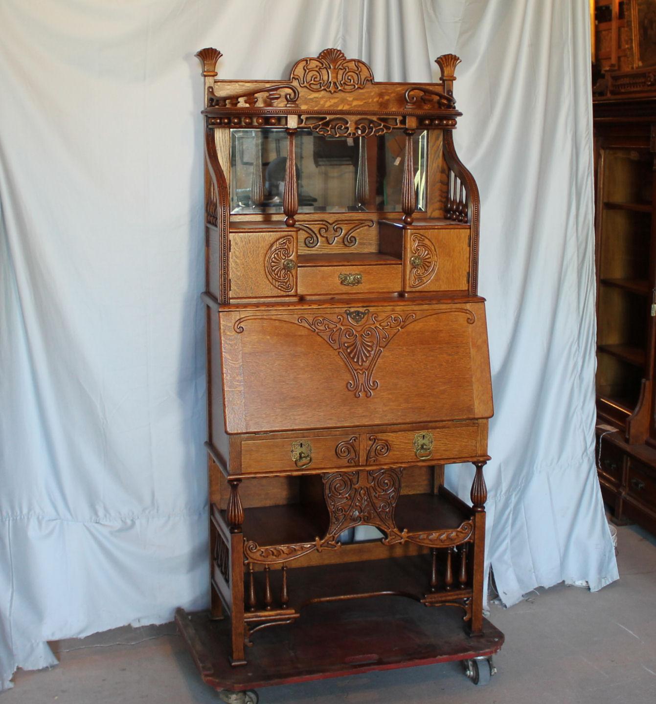 Bargain Johns Antiques  Antique Victorian Oak Cowboy