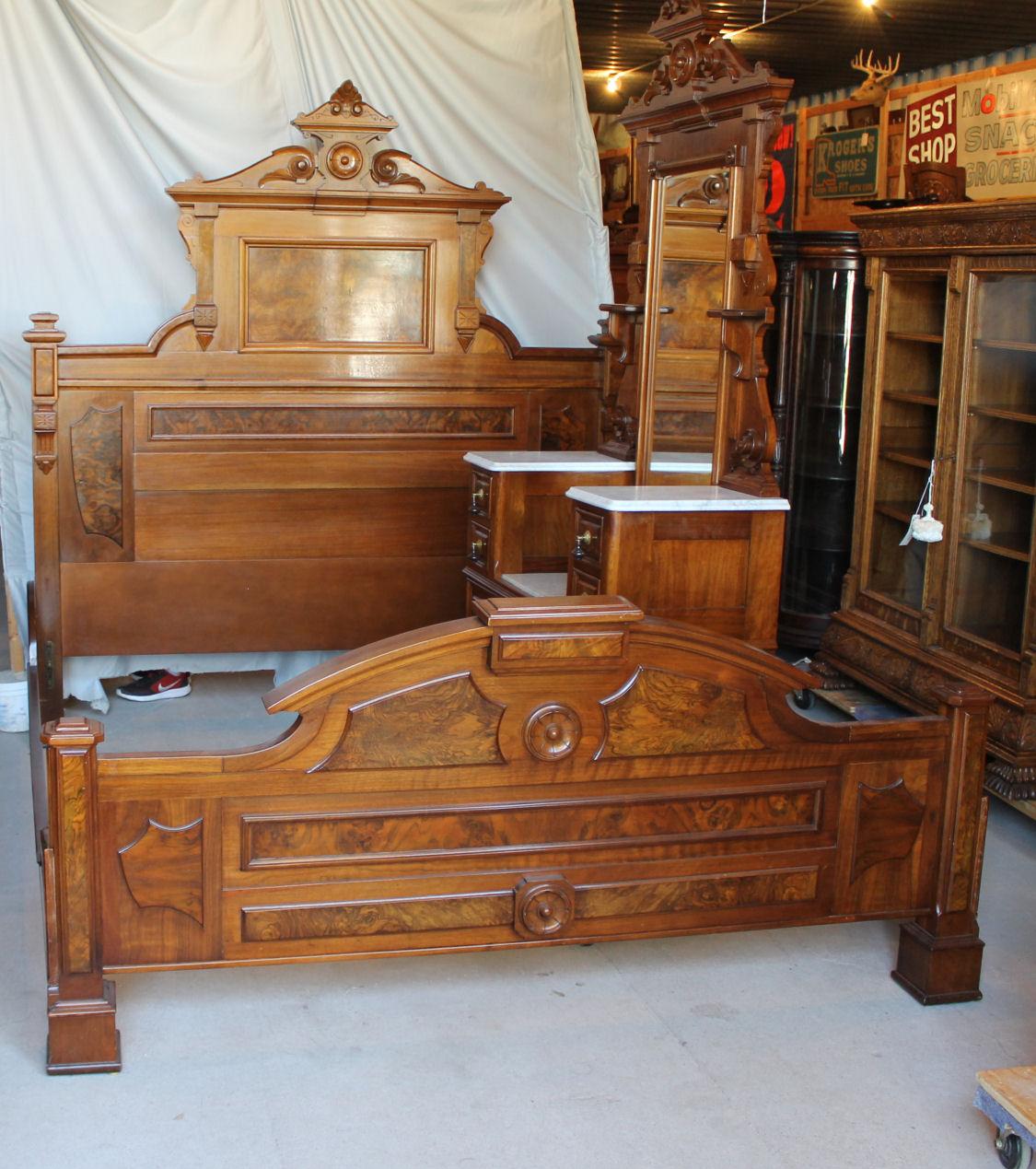 Bargain Johns Antiques Antique Victorian Walnut 3 Piece