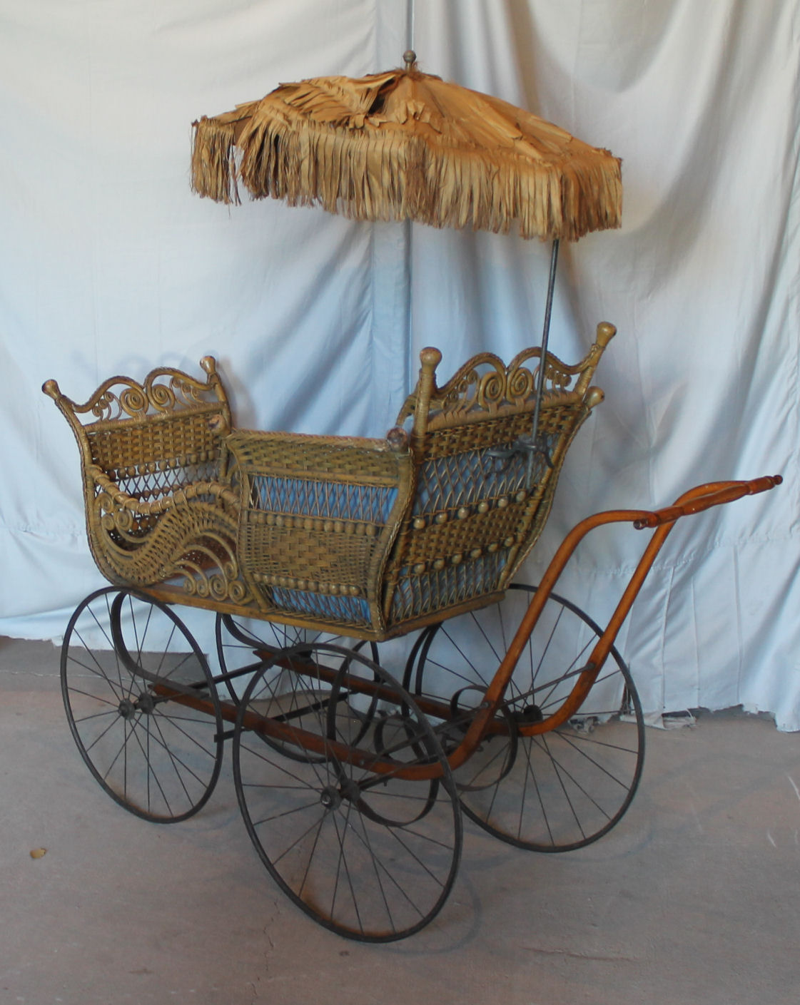 Bargain Johns Antiques  Antique Large Wicker Baby