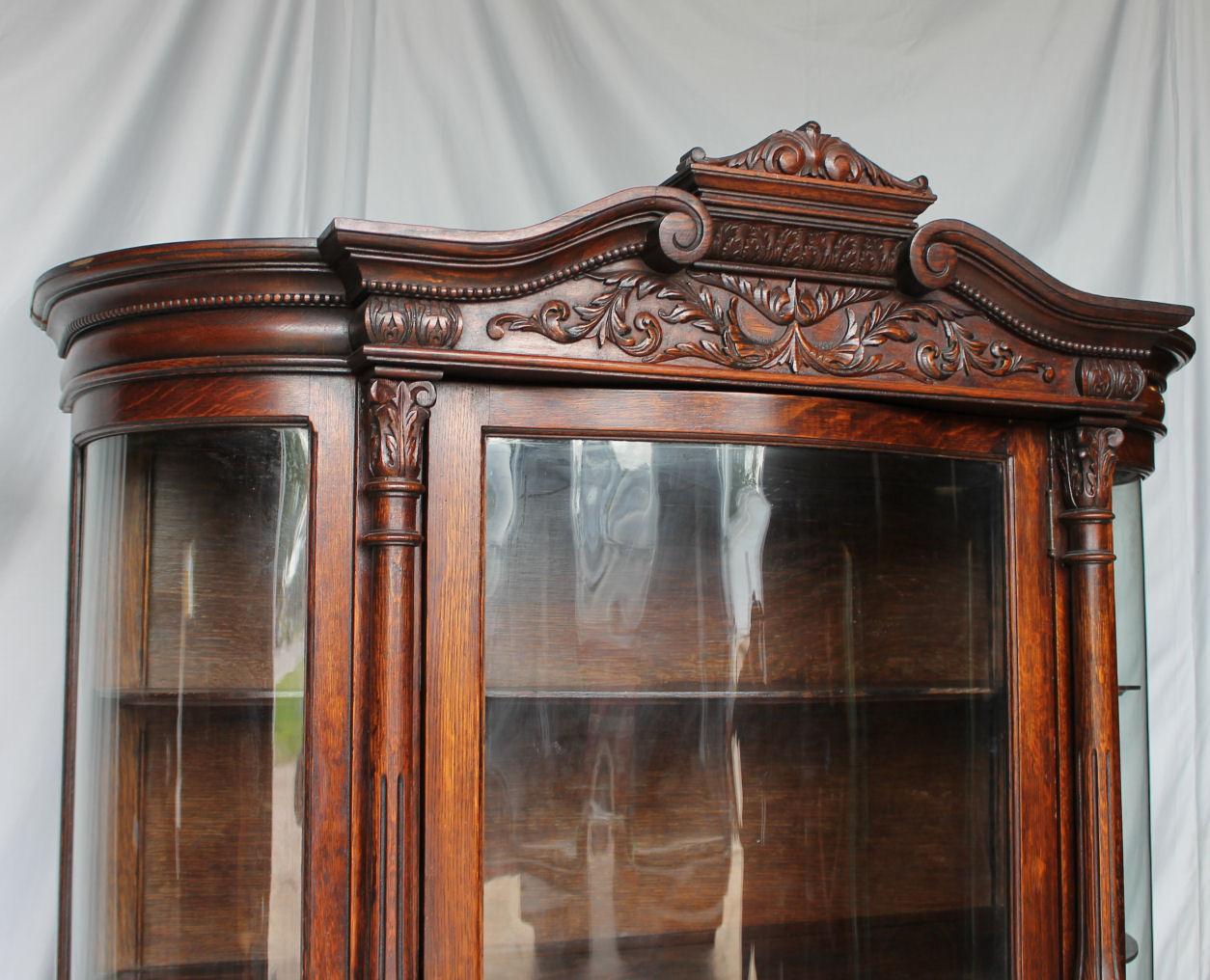 Bargain Johns Antiques  Oak China Curio Cabinet