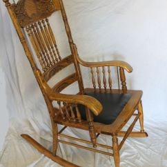 Chair Accessories Covers Surrey Bargain John's Antiques   Antique Oak Carved Back Rocking -