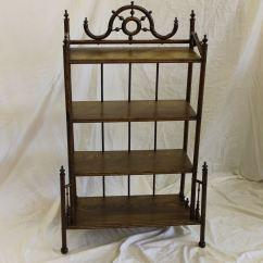 Iron Rocking Chair Design Wikipedia Bargain John's Antiques | Antique Oak Stick And Ball Fancy Self Standing Shelf Stand - ...