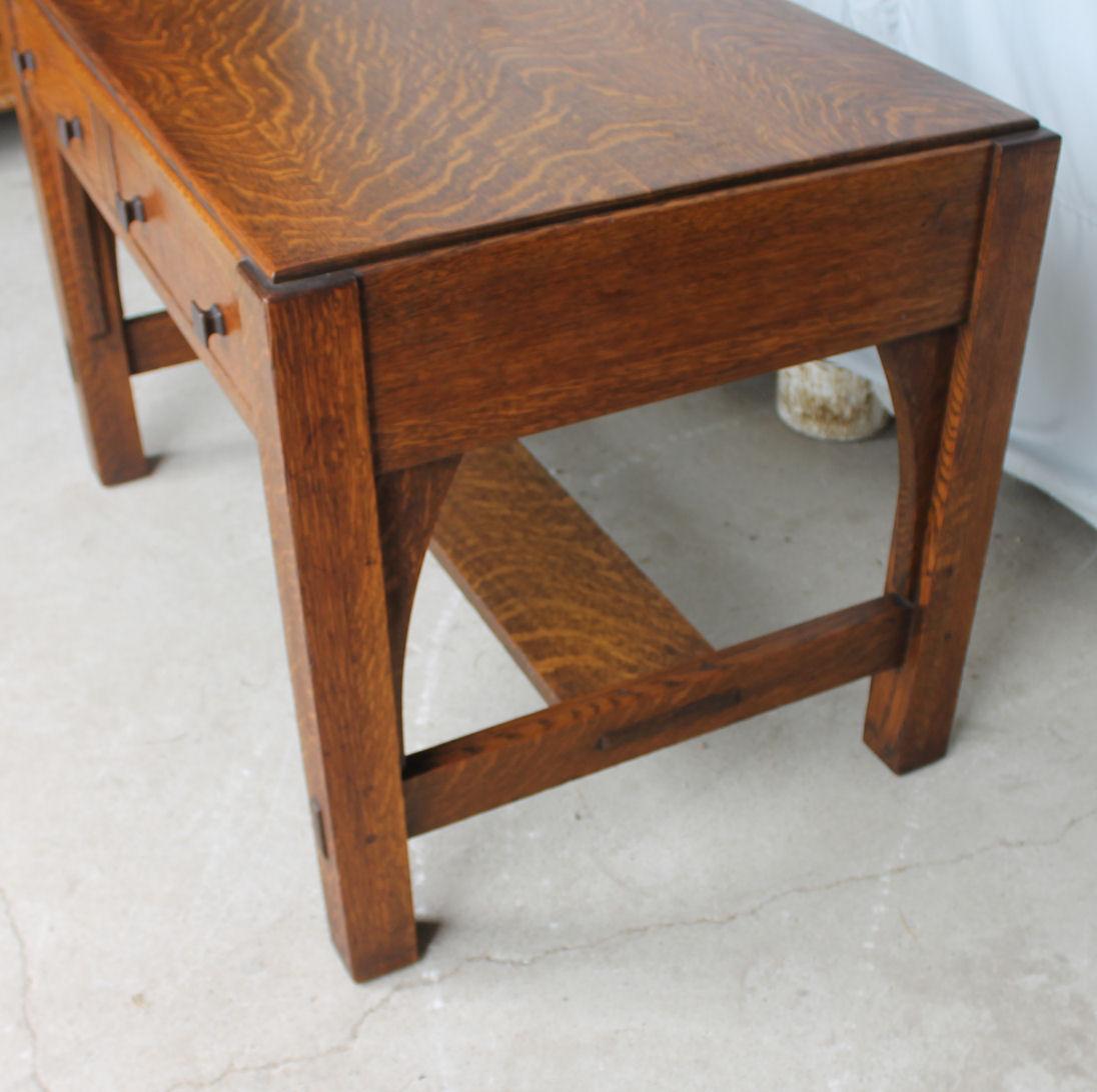 Bargain Johns Antiques  Mission Oak Library Table desk