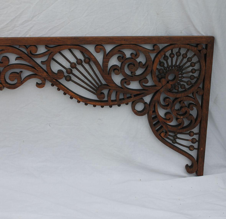 Bargain Johns Antiques  Antique Victorian Oak Fretwork