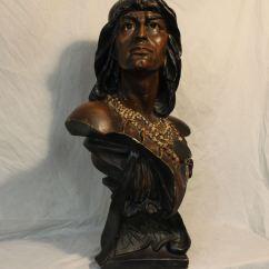Kitchen Clocks Quality Cabinets Bargain John's Antiques | Chalkware Hiawatha Indian Bust ...
