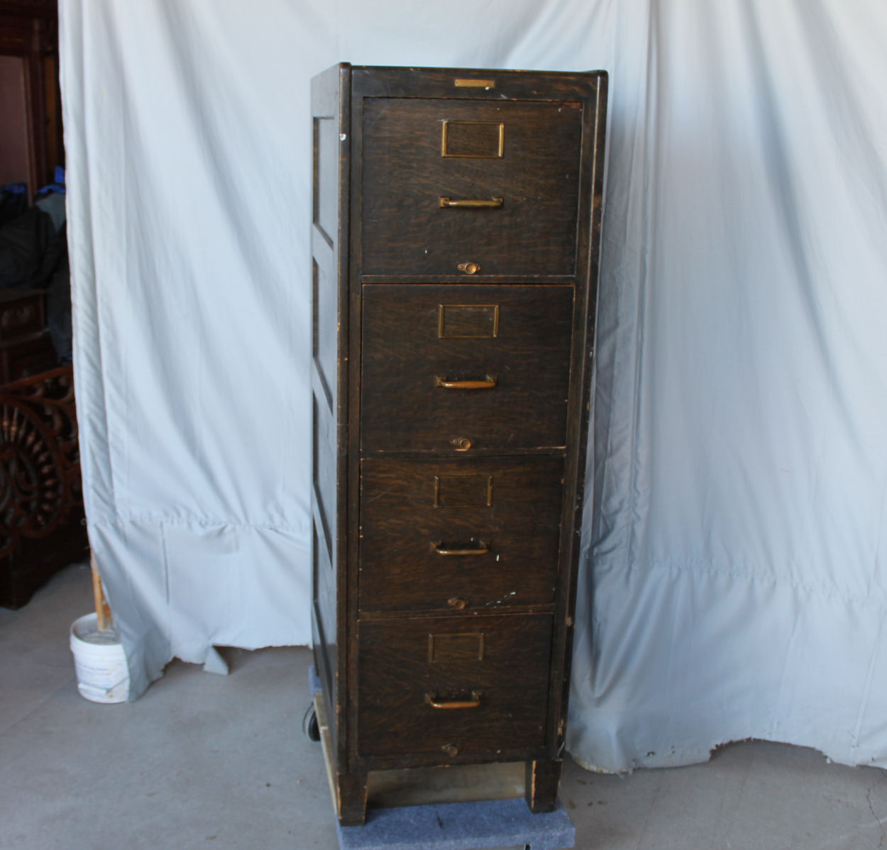 Bargain Johns Antiques  Mission Oak four drawer File