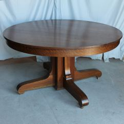 Round Oak Table And Chairs Medical Reclining Bargain John 39s Antiques Antique Mission Style