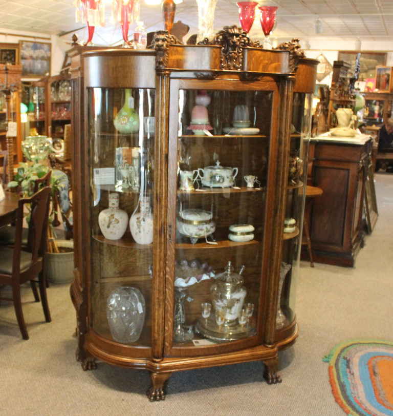 Bargain Johns Antiques  Antique Oak China Curio Cabinet