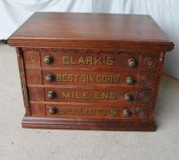 Bargain John's Antiques | Antique Clark's four drawer ...