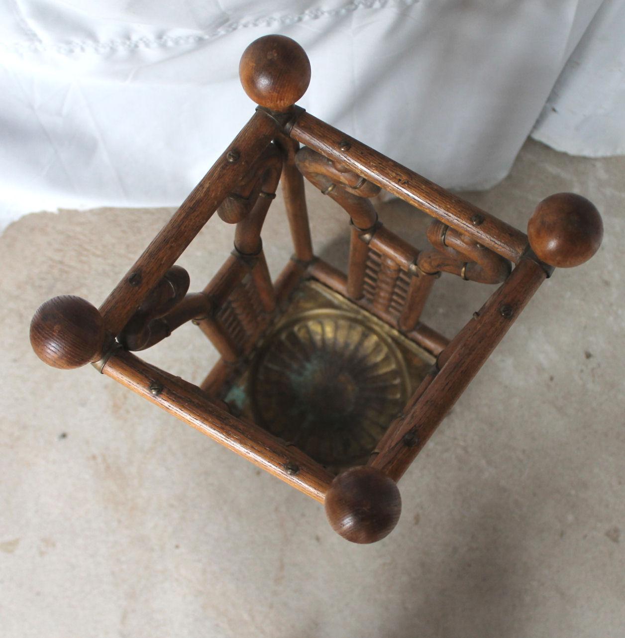 office chair ball suzani fabric bargain john's antiques   antique victorian oak stick and umbrella stand – 1892 - ...
