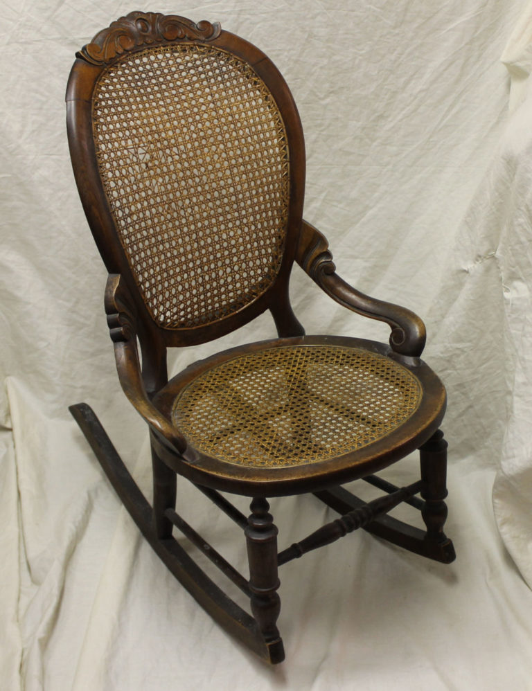 Bargain Johns Antiques  Victorian Walnut Sewing Rocker