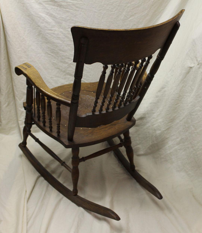 Bargain Johns Antiques  Antique Oak Armed Pressback