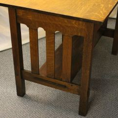 High Chair For Dolls Folding Chairs Padded Bargain John's Antiques | Antique Mission Oak Arts & Crafts Stickley Library Table - ...