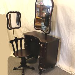 Vanity With Chair And Mirror Dining Table Host Bargain John 39s Antiques Mahogany Adjustable