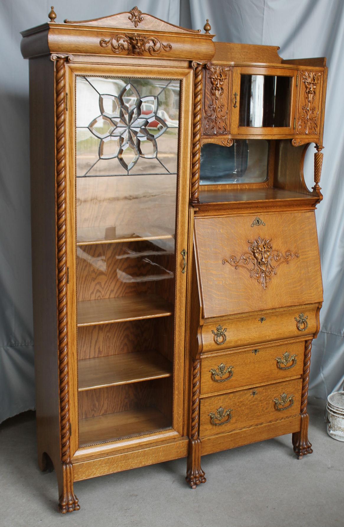 Bargain Johns Antiques  Antique Oak Side by Side
