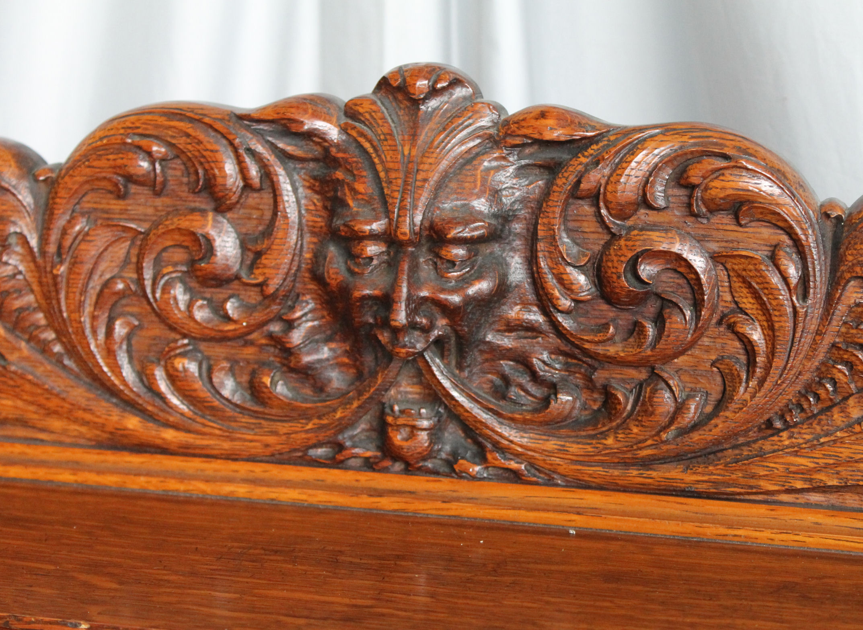 Bargain Johns Antiques  Antique Carved Oak Server Buffet