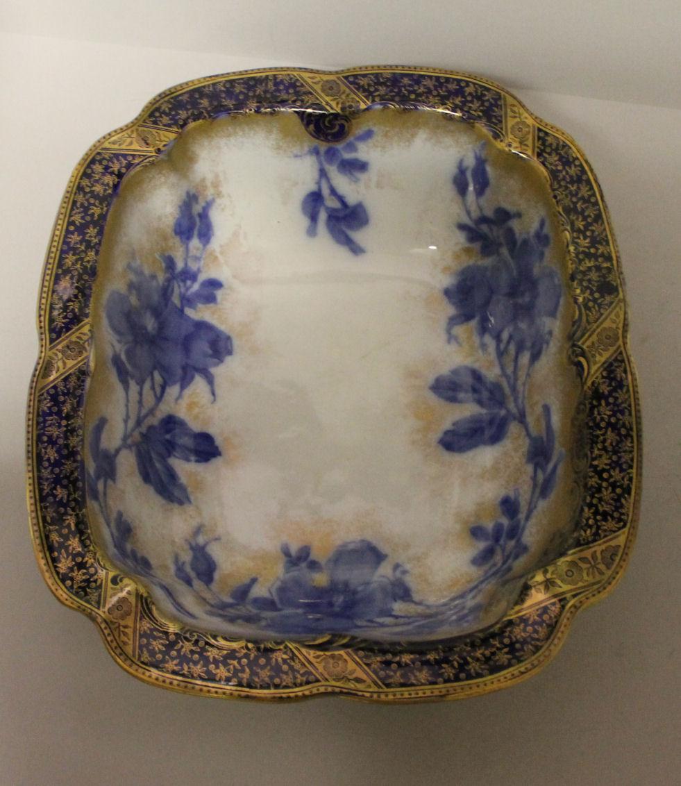 Bargain John S Antiques Antique Blue Floral Pitcher