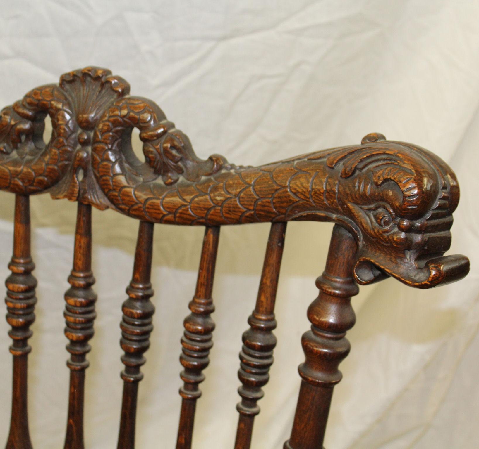 Bargain Johns Antiques  Victorian Antique Oak Rocking