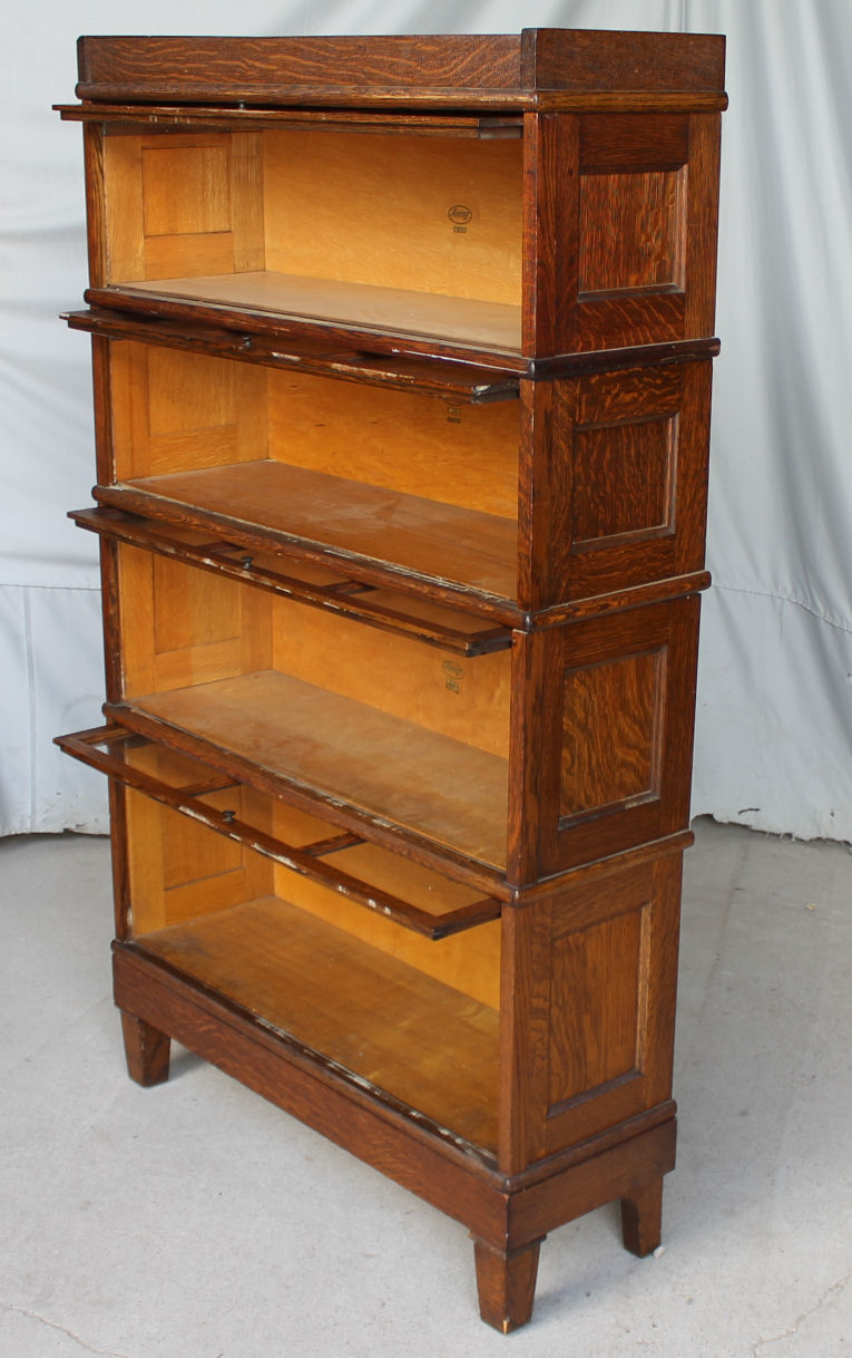 antique sewing chair roller design bargain john's antiques | arts and crafts mission style barrister oak bookcase - original finish ...
