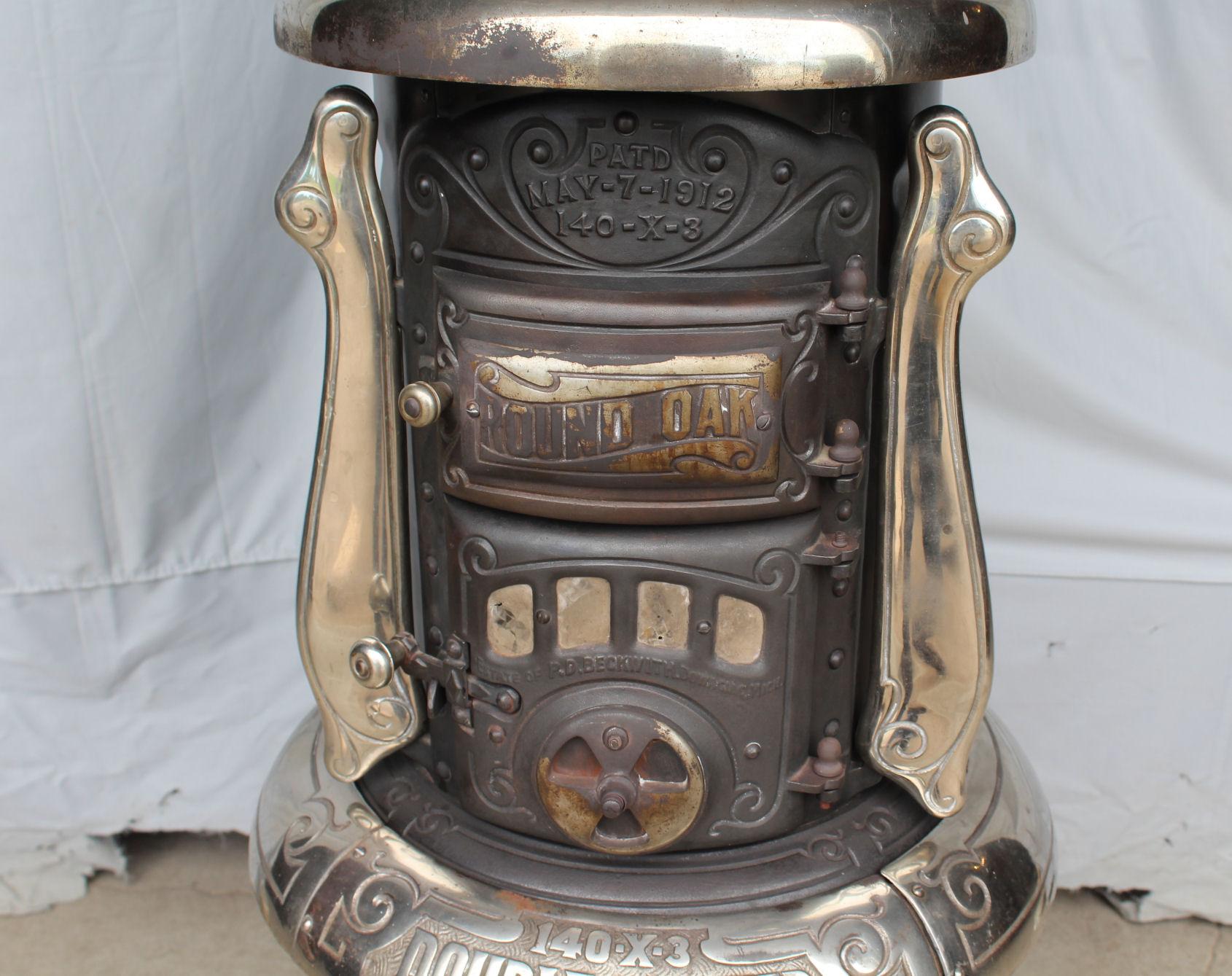 Bargain Johns Antiques  Antique Round Oak Pot Belly Wood