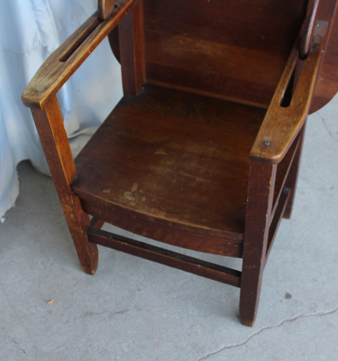 folding chair desk combo sleeper foam bargain john 39s antiques antique oak combination