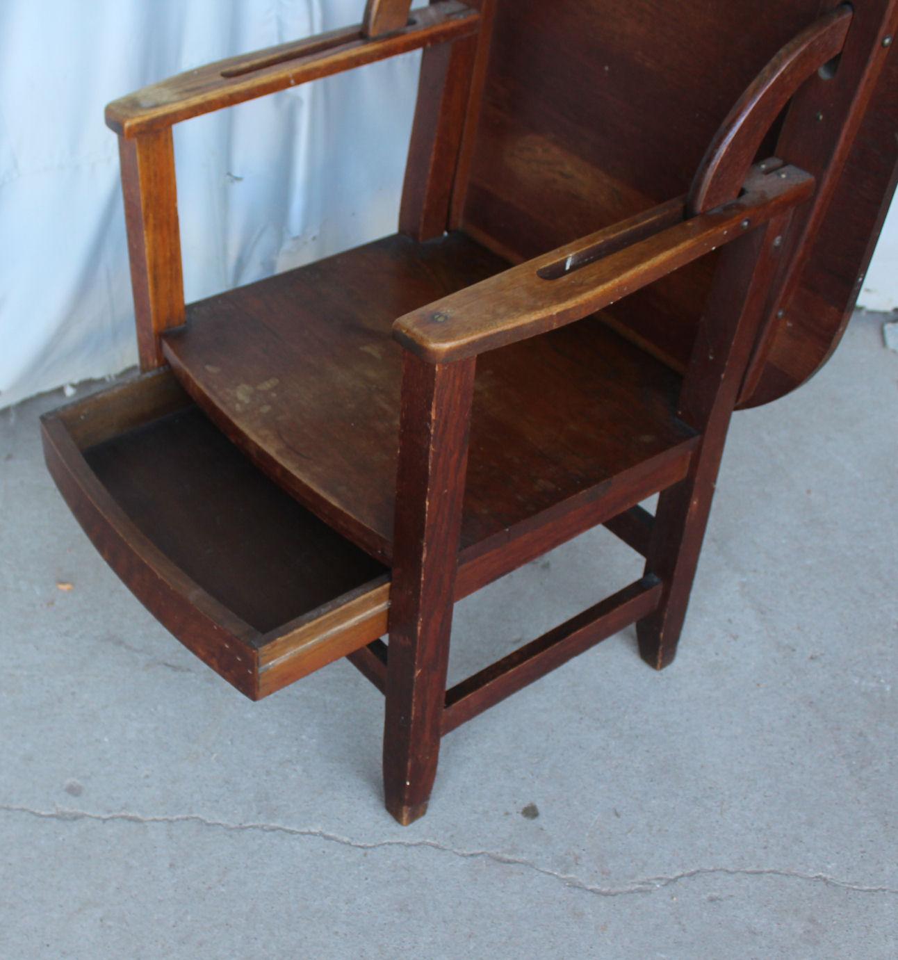 folding chair desk combo church chairs for sale bargain john 39s antiques antique oak combination