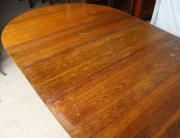 Bargain John's Antiques | Antique Mission Round Oak Dining ...