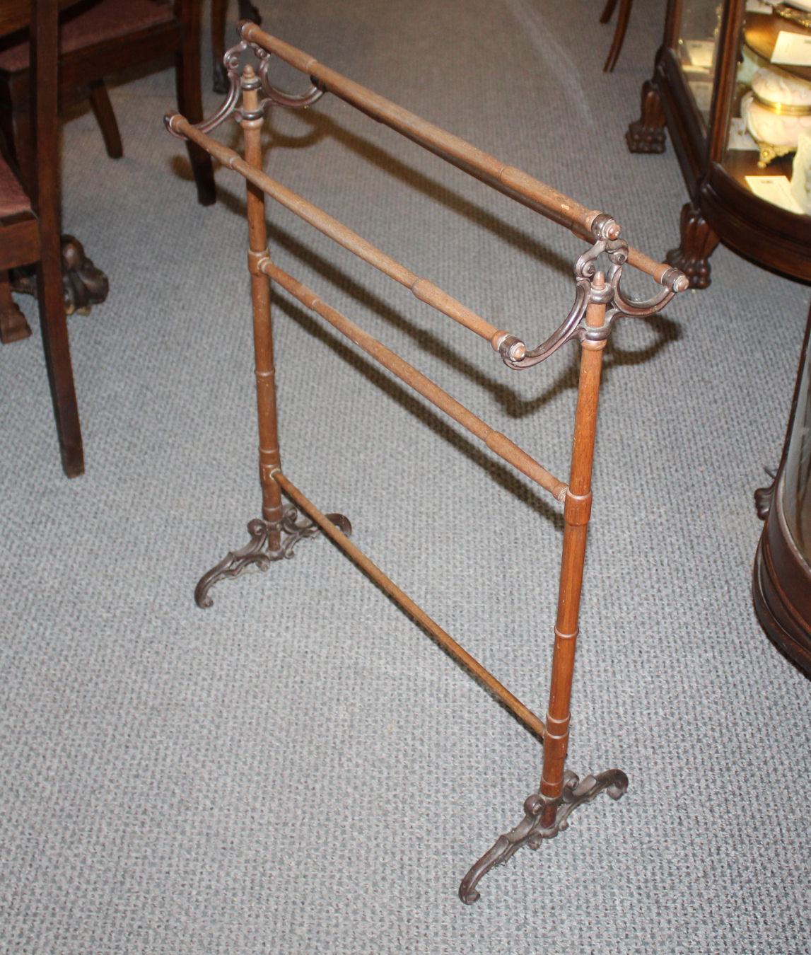 antique victorian walnut cast iron